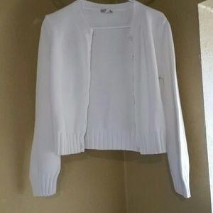 J.Crew 6 button white sweater sz L